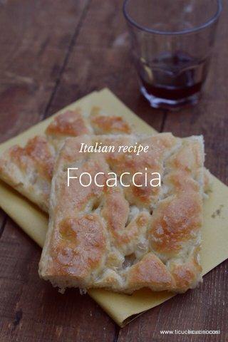 Focaccia Italian recipe