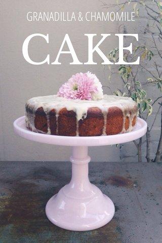 CAKE GRANADILLA & CHAMOMILE