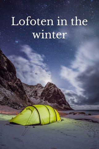 Lofoten in the winter