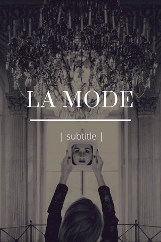LA MODE | subtitle |