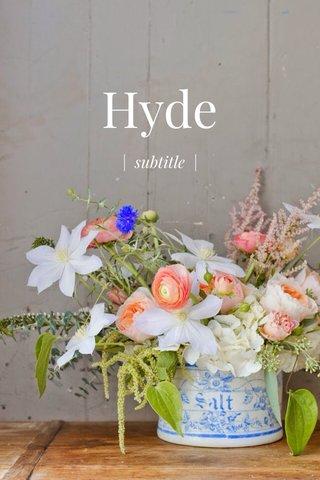 Hyde | subtitle |