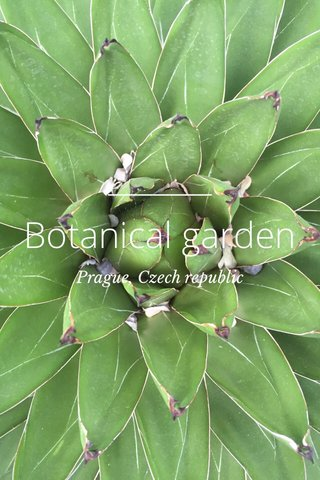 Botanical garden Prague, Czech republic