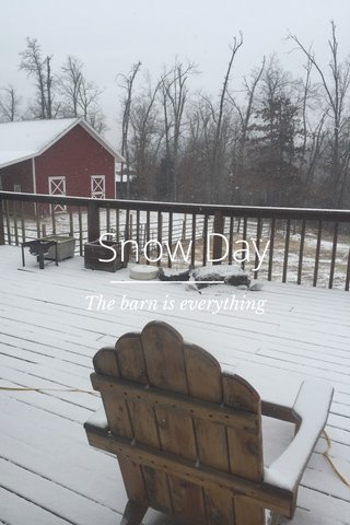 Snow Day The barn is everything