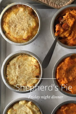 Shepherd's Pie Friday night dinner