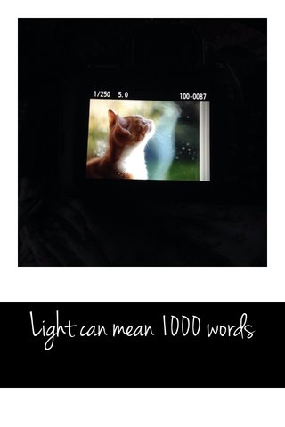 Light can mean 1000 words