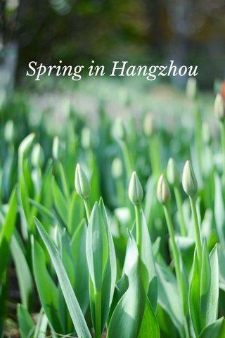Spring in Hangzhou