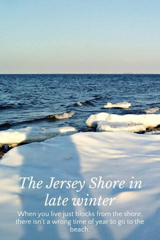 The Jersey Shore in late winter