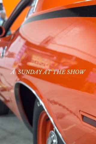 A SUNDAY AT THE SHOW
