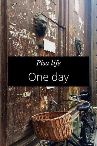 One day Pisa life