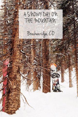 A SNOWY DAY ON THE MOUNTAIN Breckenridge, CO