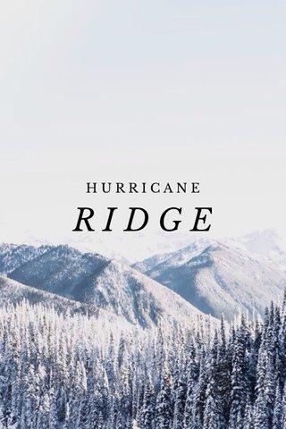 RIDGE HURRICANE