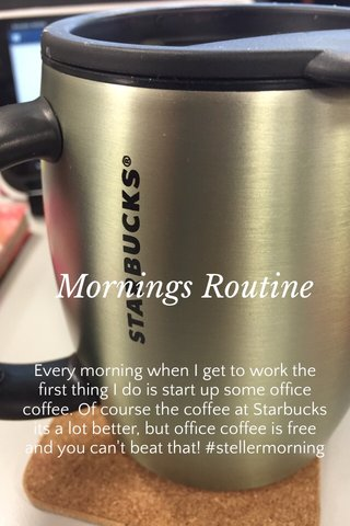 Mornings Routine