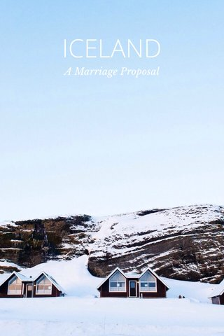 ICELAND A Marriage Proposal