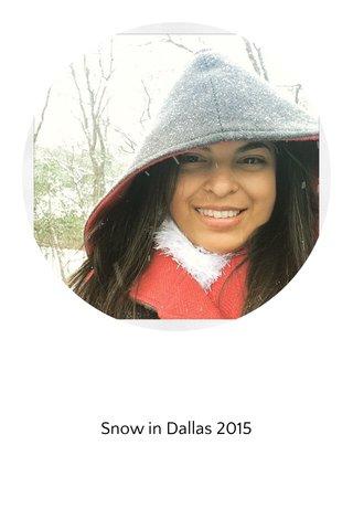 Snow in Dallas 2015