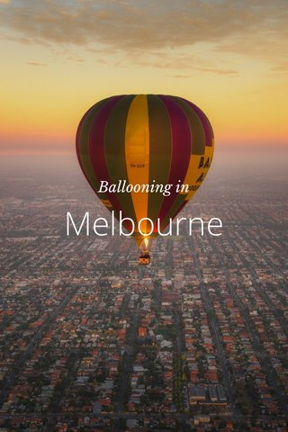 Melbourne Ballooning in