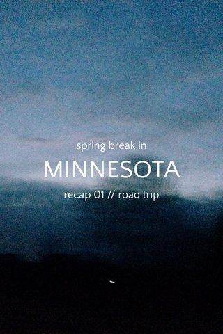 MINNESOTA spring break in recap 01 // road trip