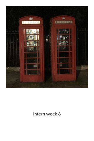 Intern week 8