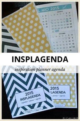 INSPLAGENDA inspiration planner agenda