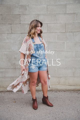 OVERALLS outfit of the day