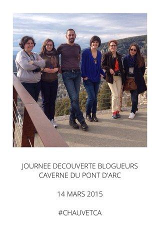 JOURNEE DECOUVERTE BLOGUEURS CAVERNE DU PONT D'ARC 14 MARS 2015 #CHAUVETCA