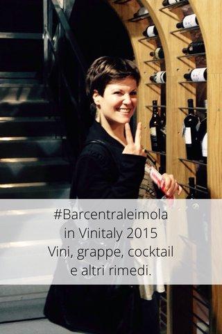 #Barcentraleimola in Vinitaly 2015 Vini, grappe, cocktail e altri rimedi.