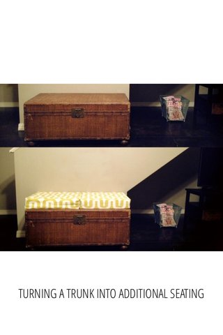 TURNING A TRUNK INTO ADDITIONAL SEATING