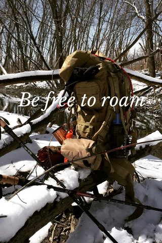 Be free to roam