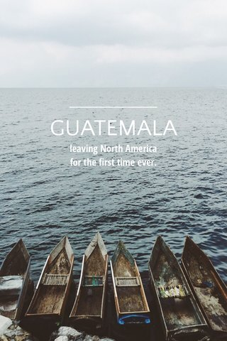 GUATEMALA leaving North America for the first time ever.