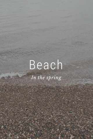 Beach In the spring
