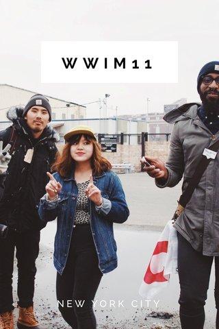 WWIM11 NEW YORK CITY