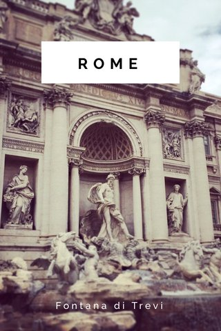 ROME Fontana di Trevi