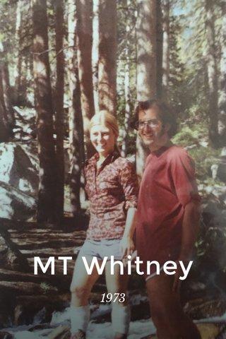 MT Whitney 1973