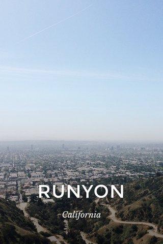RUNYON California
