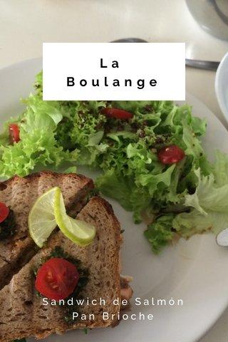 La Boulange Sandwich de Salmón Pan Brioche