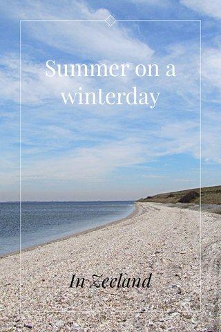 Summer on a winterday In Zeeland