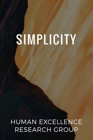 SIMPLICITY HUMAN EXCELLENCE RESEARCH GROUP