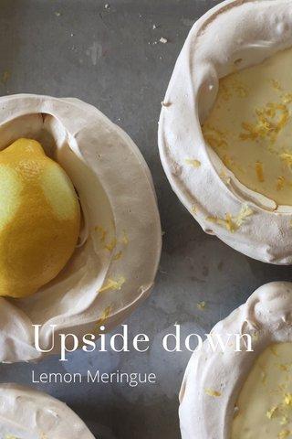 Upside down Lemon Meringue