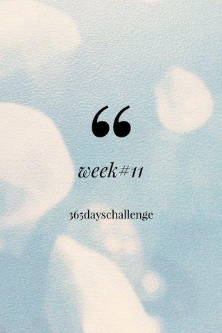 week#11 365dayschallenge