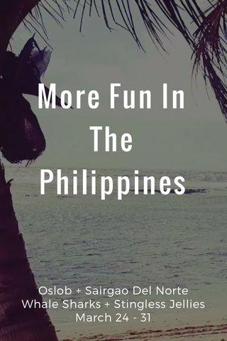 More Fun In The Philippines Oslob + Sairgao Del Norte Whale Sharks + Stingless Jellies March 24 - 31