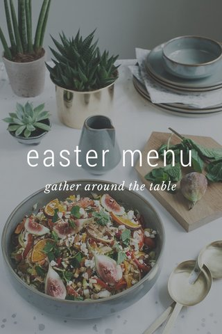 easter menu gather around the table