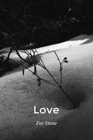 Love For Snow