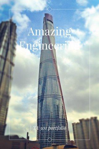 Amazing Engineering | TA 301 portfolio |