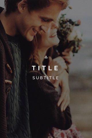 TITLE SUBTITLE