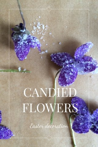 CANDIED FLOWERS Easter decoration