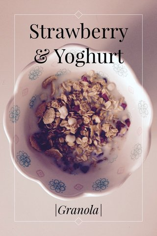 Strawberry & Yoghurt |Granola|