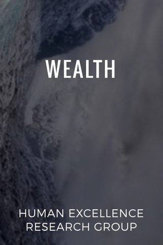 WEALTH HUMAN EXCELLENCE RESEARCH GROUP