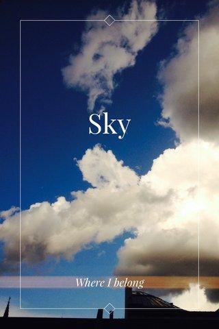 Sky Where I belong