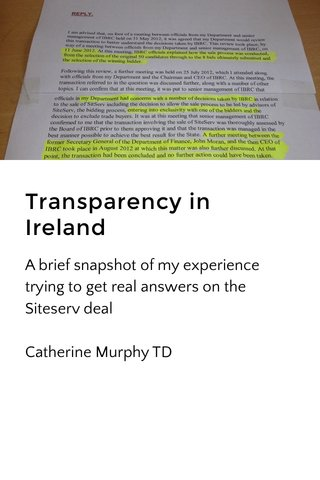 Transparency in Ireland