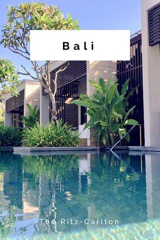 Bali The Ritz-Carlton