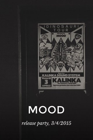 MOOD release party, 3/4/2015